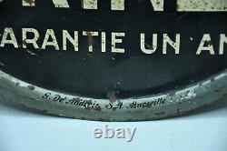Ancienne plaque litographié embossée publicitaire Bougie GURTNER collection auto