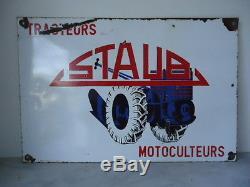 Ancienne plaque émaillé (RARE et BELLE plaque STAUB)