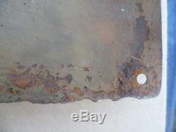 Ancienne plaque émaillée Automobile bombée TONELINE huile pour autos