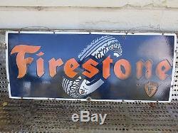 Ancienne plaque émaillée FIRESTONE