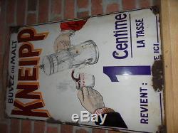 Ancienne plaque émaillée MALT KNEIPP, modèle bombée, idéal déco, loft