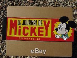 Ancienne plaque émaillée MICKEY