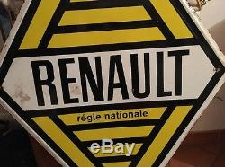 Ancienne plaque émaillée RENAULT Double Face