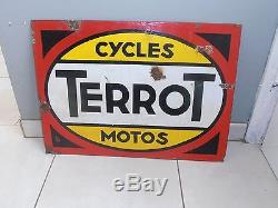 Ancienne plaque émaillée TERROT cycles
