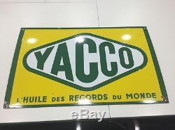 Ancienne plaque èmaillèe Yacco en très bon état