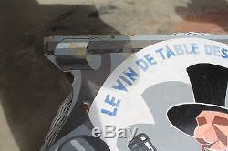 Ancienne plaque émaillée cep vermeil signée