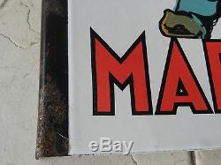 Ancienne plaque émaillée double faces. Vins Margnat. Enseigne publicitaire