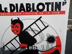 Ancienne plaque émaillée le diablotin
