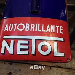 Ancienne plaque émaillée thermomètreNetol1920, emailschild, porcelain sign