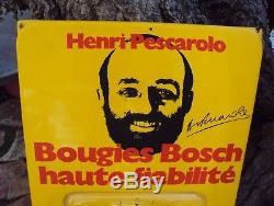 Ancienne plaque plexi thermomètre publicitaire bougie Bosch Henry Pescarolo