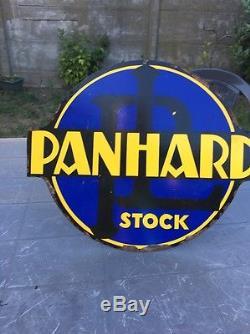 Ancienne plaque publicitaire PANHARD