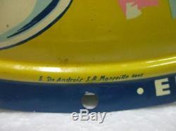 Ancienne plaque publicitaire en tôle LAITERIES DU SUD EST, S De Andreis