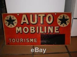 Ancienne plaque tôle d'origine Automobiline années 30