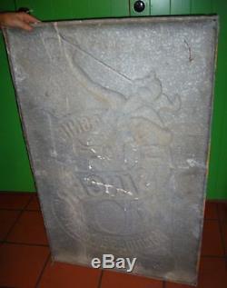 Ancienne plaque tole publicitaire singer restaurée 75 cm118cm