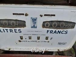 Ancienne pompe à essence BOUTILLON 1950 CALTEX ELF, vintage, no copie, no émaille