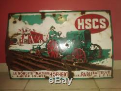 Ancienne tôle émaillée Tracteur LE ROBUSTE HSCS Gebhardt Brenner Györ Hungary