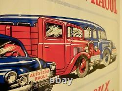 Ancienne tole garage véhicules CITROEN no plaque émaillée caisse huile bidon