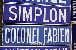 Anciennes et authentiques plaques émaillées du métro de Paris