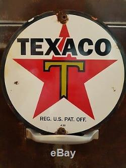 Anciennes plaques émaillé de pompes texaco 1950 plus une plaque DELTA AIRLINES