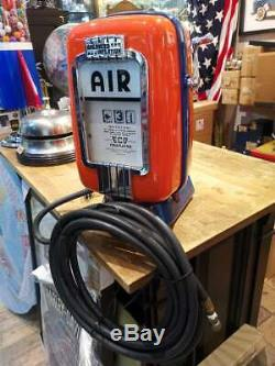 Antiquité USA Eco Air Meter Gulf Avec Tuyau Gonflage