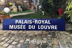 Authentique Plaque Ancienne En Tôle Émaillée Du Métro Parisien De 2m65