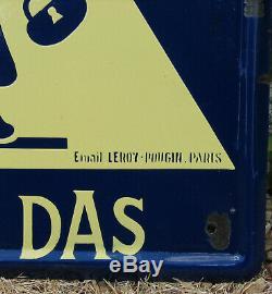 Automobile Club De L'ouest. Don De La Das. 1 X Plaque Emaillee. 64,5 X 64,5