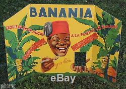 BANANIA Rare carton publicitaire de 1934