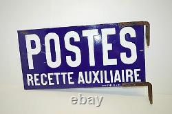 BELLE PLAQUE EMAILLEE DOUBLE POSTES RECETTE AUXILIAIRE Japy Frères & Cie PUB