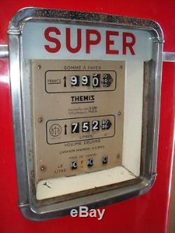 BELLE POMPE A ESSENCE THEMIS 1952 bidon huile oil can pump tanksaule tankstelle