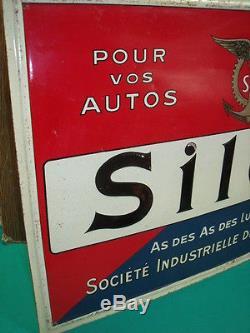 BELLE TOLE GAUFFREE HUILES SILOIL 1930 DE ANDREIS bidon pompe pump zapfsaule