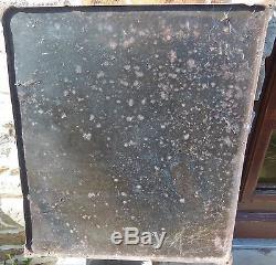 BELLE plaque émaillée ancienne boule d' or