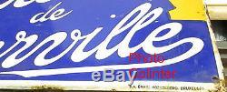 BIERE DE THIERVILLE (Meuse) authentique Plaque émaillée ancienne 45 x 60cm