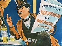 BIERE OPPERMANN GRANDE BRASSERIE DE LA LOIRE SAINT ETIENNE 1900 signé NACHIPEIN