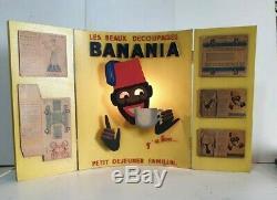 Banania Présentoir Découpages Morvan Bois Y'a Bon Electrique