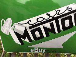 Belle plaque émaillée café Montoux
