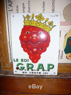 Belle plaque émaillée LE ROI GRAP d'aprés Beuville