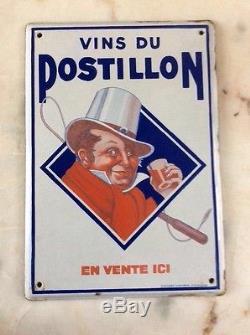 Belle plaque émaillée POSTILLON