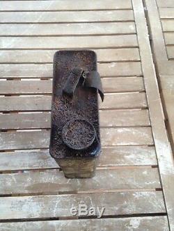 Bidon Dhuile Ancien KERVOLINE No Plaque Émaillée Oil Can Öldose