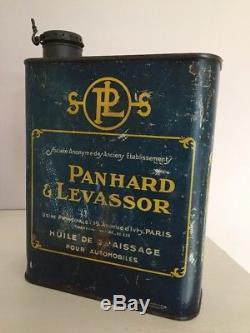 Bidon de 2 litres d'huile Panhard et Levassor
