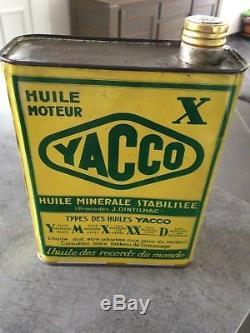 Bidon huile Öl dose oil can tin yacco plein avion couché de soleil 1930