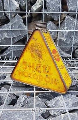 Bidon huile triangulaire SHELL