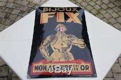 Bijoux Fix. Plaque émaillée bombée. Circa 1935. D'après Jean Carlu