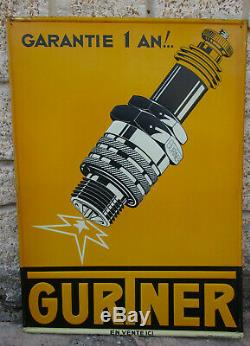 Bougie GURTNER. Rare tole litho d'époque en excellent état 47 x 64.5 cm