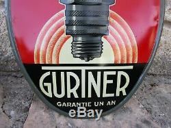 Bougie GURTNER. Tole litho d'époque ovale, excellent état 48.5 x 34.5 cm