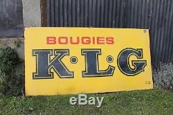 Bougie Klg Tres Grande Plaque Emaillee Ancienne