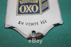 Bouillon OXO LIEBIG Plaque émaillée de Propreté RARE