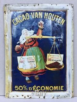 CACAO VAN HOUTEN Tôle lithographiée 1910