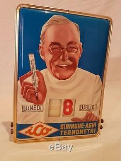 Calendario Perpetuo Vintage Epoca Roy Vercelli Ico Termometri Siringhe Farmacia