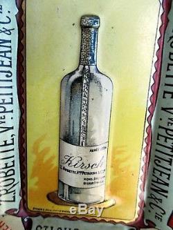 CENDRIER tôle PUBLICITAIRE ABSINTHE St-Loup France 1900 RARE