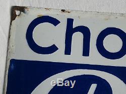 CHOCOLAT PUPIER, ancienne plaque émaillée chocolat pupier, PUPIER